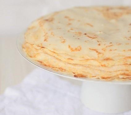 Gâteau de crêpes salées aux rillettes d'oie Arnaud